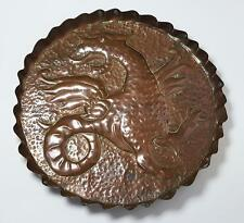 ARTS & CRAFTS MOVEMENT COPPER GRIFFIN DISH c1900 Possibly YATTENDON