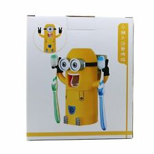 toothbrush Holder Automatic Toothpaste Dispenser Minions Design Set single Eyes