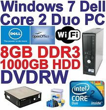 Windows 7 Dell Core 2 Duo 2x3.00GHz Gaming PC Computer - 8GB DDR3 - 1TB - HDMI