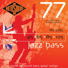 Rotosound RS77EL Jazz 4-String XL Scale Bass Guitar String Set 45-105