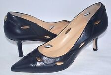 "Ivanka Trump EUC Womens Black Leather 2 ¾"" High Heels Pumps Shoes Size 8.5"