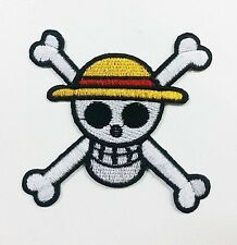 ONE PIECE IRON PATCH SKULL ANIME MANGA MONKEY LUFFY SEW SEWING EMBLEM SHIRT WCF