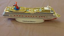 """NEW IN BOX""  Carnival Liberty Cast Resin Cruise Ship Model souvenir"