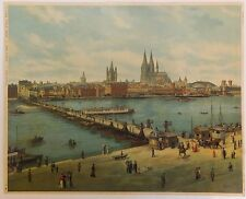 Cologne Colonia Allemagne Germany Chromolithographie 19ème siècle