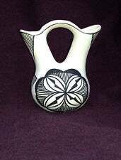 native american wedding-vase pottery by s chino (acoma)