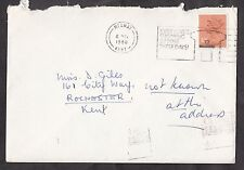 Envelope postmarked Medway 1980 with 10p stamp. Contains Christmas card