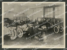 Wilhelm II. Auto-Abt. Mercedes Garage Chauffeure Mechaniker Uniform Berlin 1906