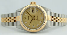 ROLEX - Gold & SS Ladies DateJust Champagne Jubilee Diamond - 79173 SANT BLANC