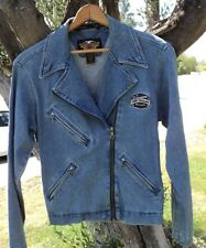 Women's Harley Davidson Denim Moto Jacket Size Medium