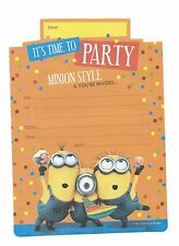 Despicable Me Minions Party Invitations 16 Sheets Including Yellow Envelopes