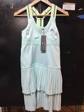 NWT Adidas Stella McCartney Barricade Pleated Tennis Dress Aqua sz XS