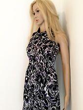 Ladies Ann Taylor Navy White Multi Color Career Dress 00 Petite XS Knee Length