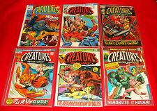 7 Marvel Horror Comic Books Creatures on the Loose 1971-73 - Vintage Bronze Age