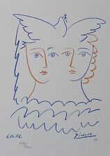 PABLO PICASSO FEMMES A LA COLOMBE SIGNED HAND NUMBERED 719/1000 LITHOGRAPH DOVE
