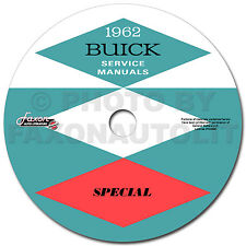 1962 Buick Special and Skylark CD Shop Manual and Body Repair Service