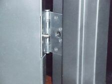 Steel out-swing doors. Prevent Lift-out after hinge removal. Schools, Commercial