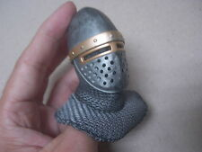 ACI ACI23 1/6 Warriors Knight Hospitaller Crusader Helmet+Chain mail coif +head