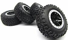 SLASH 4x4 OBA TSM - TIRES & Wheels (12mm Black & Silver Tyres traxxas 68086-21