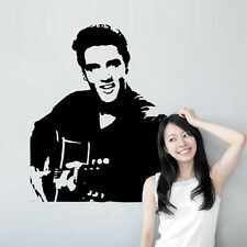 Elvis Presley Playing Guitar Art Wall Stickers Wall Decals Home Decoration DIY