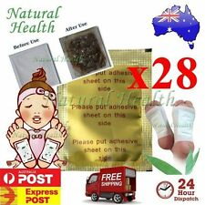 28 x Detox Kinoki Foot Patch Pad Natural plant Herbal Toxin Removal Weight Loss