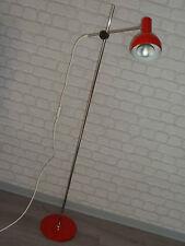 70er Jahre STEHLAMPE STAND-STRAHLER SPOT rot chrom  70s floor lamp spot red