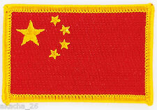 PATCH ECUSSON BRODE DRAPEAU CHINE CHINA INSIGNE THERMOCOLLANT NEUF FLAG PATCHE