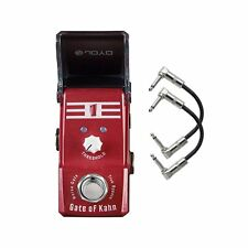 Joyo JF-324 Ironman Gate of Kahn (Noise Gate) Mini Guitar Effects Pedal + Cables