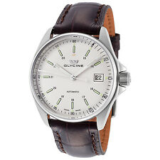 Glycine Men's 3916.11S LBK7F Combat 6 Automatic 36mm Silver Dial Brown Leather