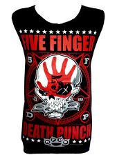 Five Finger Death Punch Skull Classic Rock Band Tank Top Vest T Shirt Size M