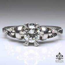 ANTIQUE ART DECO PLATINUM 0.60ctw. ENGAGEMENT DIAMOND RING
