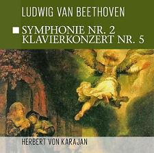CD Beethoven Sinfonía Núm 2, Concierto para piano Núm 5 con Herbert de Karajan