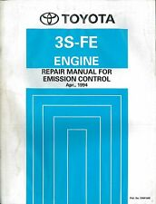 1994 TOYOTA RAV4 3S - FE MOTOR ENGINE REPAIR MANUAL FOR EMISSION CONTROL ERM106E