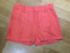 NEXT GIRLS ORANGE EMBROIDERY ANGLIAS / WAFFLE SHORTS / HOT PANTS AGE 11 ~ 146cm