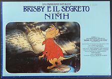 FOTOBUSTA 4, BRISBY E IL SEGRETO DI NIMH The Secret of NIMH, DISNEY POSTER