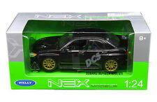 WELLY SUBARU IMPREZA WRX STI BLACK 1:24 DIECAST CAR MODEL  22487
