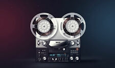 Framed Print - Old 35mm Music Tape Player (Picture Poster Retro Art Old School)