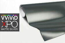 VViViD Silver Matte car vehicle bike boat vinyl wrap 1ft x 5ft sheet 3mil film