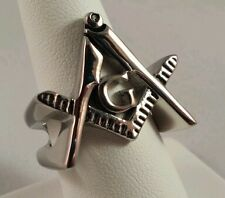 Freemason Square and Compass Cut-Out Ring (size 10)
