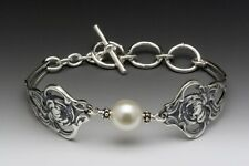 SILVER SPOON VERONA TOGGLE BRACELET WITH SWAROVSKI PEARL