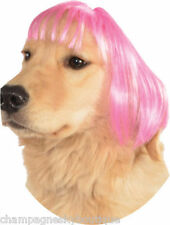 NIP * RUBIES PET SHOP BOUTIQUE SHORT WIG * M/L Pink Dog Wig Halloween Costume