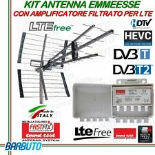 KIT ANTENNA 41 ELEMENTI GUADAGNO 17dB + AMPLIFICATORE LOG 25db LTE MADE IN ITALY