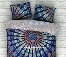 Indian Peacock Mandala Cotton Cushion Pillow Sham Case Cover Home Decor Pillows