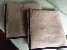 RALPH LAUREN Shams Wool Velvet BRITTANY TWEED 2 Euro Bed Pillow Covers $350.00