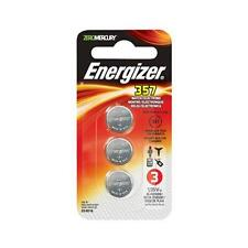 9 Energizer 357 Watch/Electronic Batteries- 3 packs of 3 = 9 EA batteries