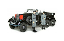 #38202-3 - Signature Models Mercedes Benz G4 mit 3 Figuren schwarz (1938) - 1:18