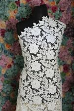 GF04 Dark Ivory Upgrade Quality Guipure lace sold by 1/2 yard 120cm wide
