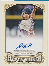 2014 Topps Gypsy Queen Autographs #GQA-AW Allen Webster Boston Red Sox Card