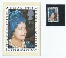 1980 Her Majesty QE Queen Mother 80th Birthday Royalty Postcard + Stamp (G19)