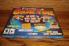 Family Game Time PC CD-ROM Software Game Microsoft Windows Rated E  New-sealed