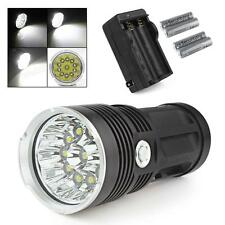 SKYRAY 28000LM 11 x CREE XM-L T6 LED Flashlight + 4 x 18650+Charger US STOCK